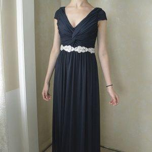 David's Bridal Navy Gown